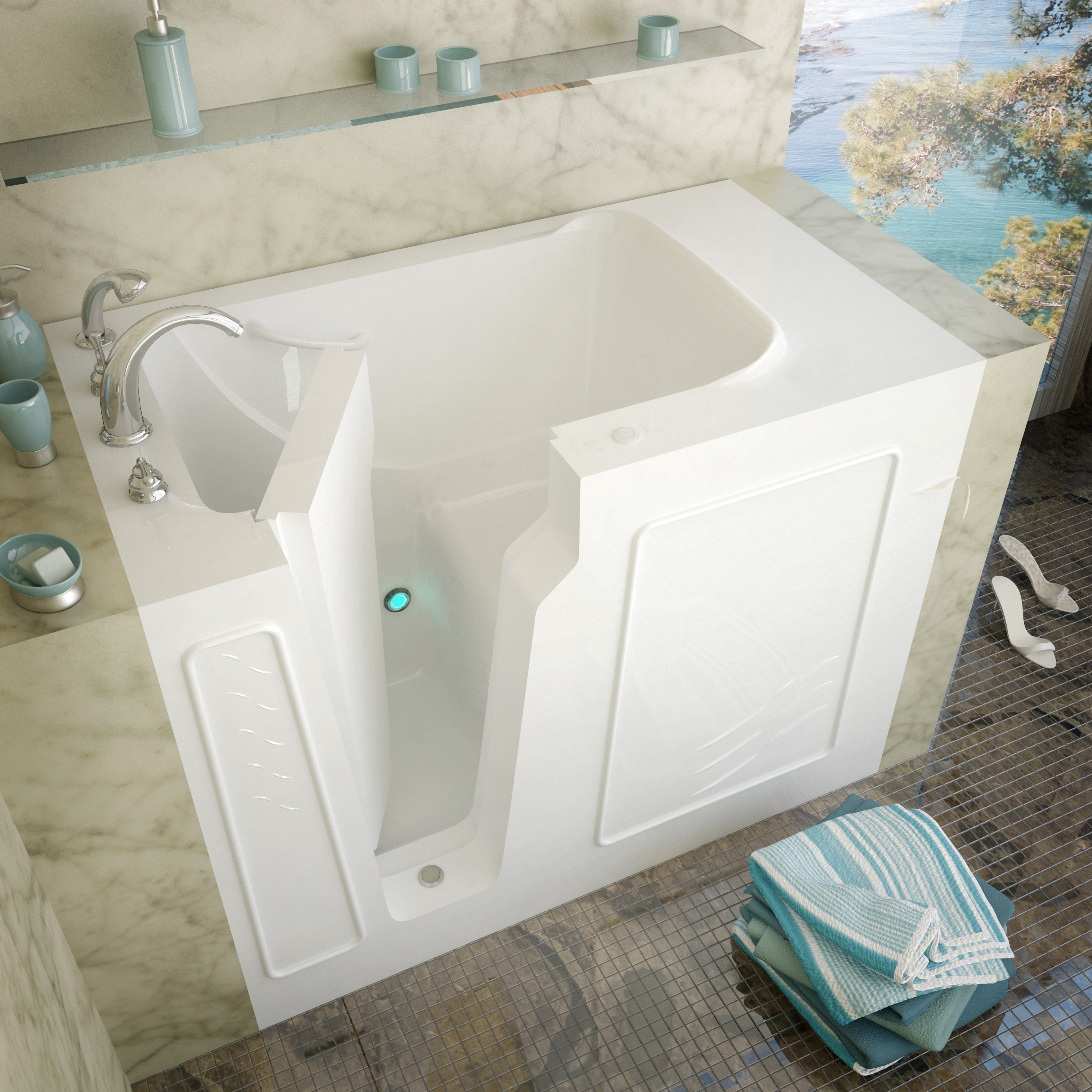 Venzi 60 x 30 Walk In Bathtub