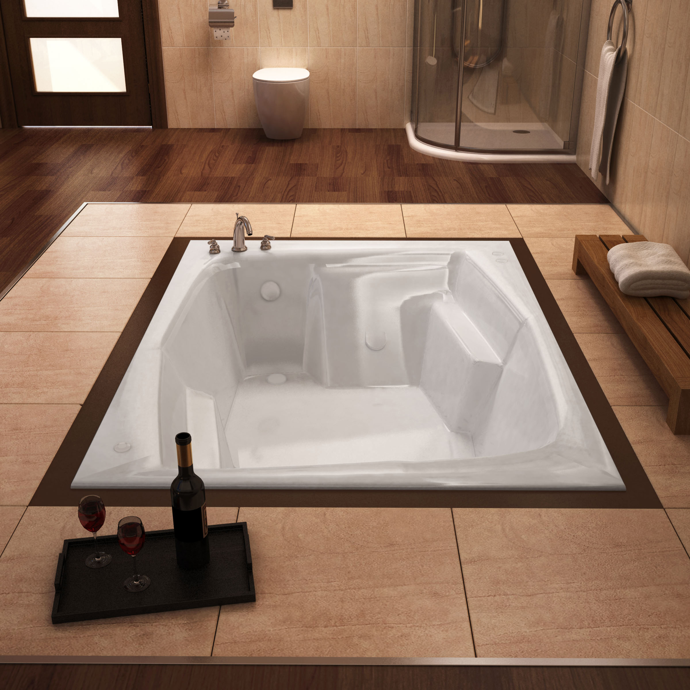 Venzi Capri 72 x 54 Rectangular Bathtub
