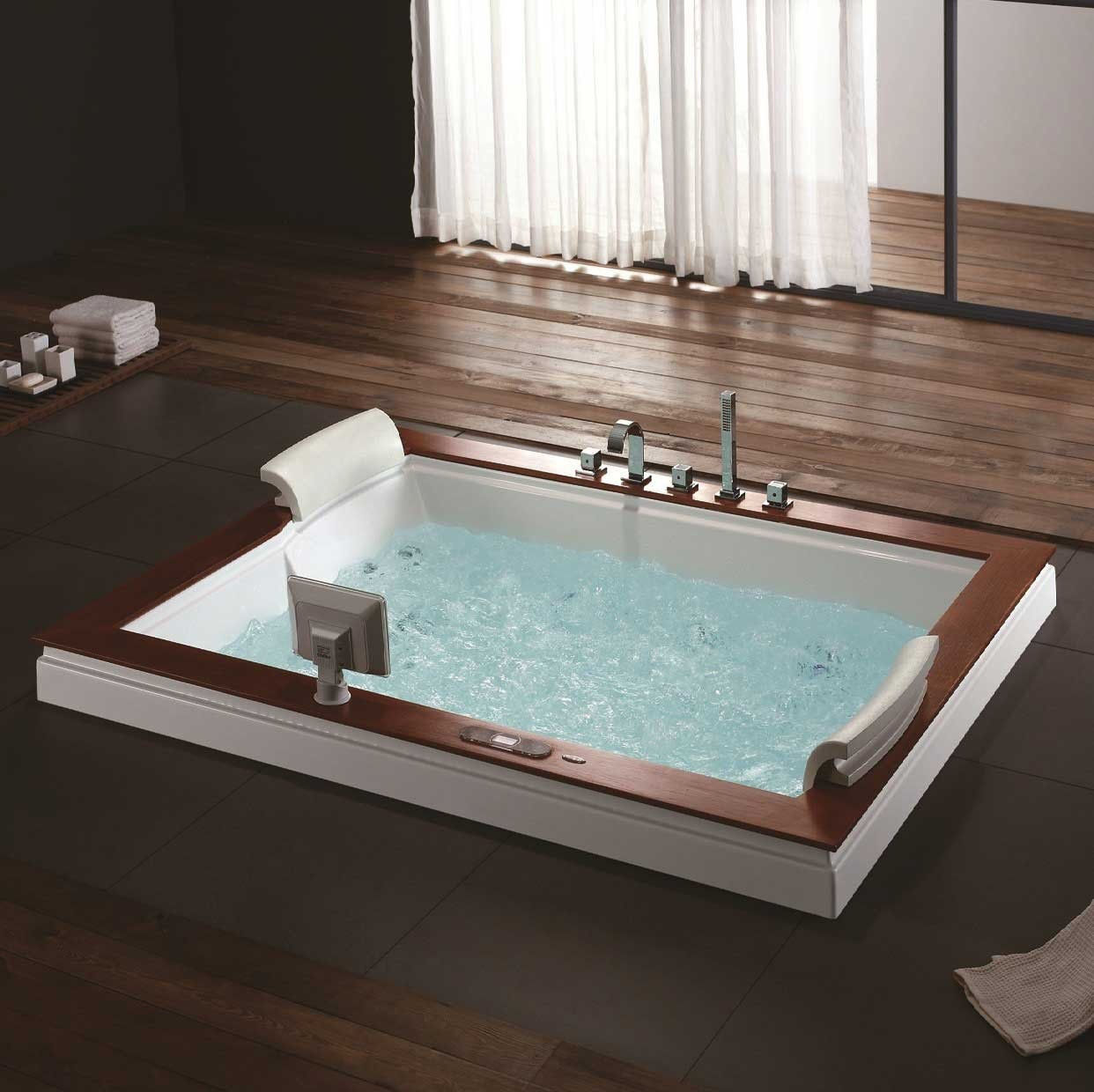 Burlington Luxury Whirlpool Tub on bathroom floor tile with copper tub, bathroom freestanding bath tub, bathroom bathtub design, bathroom tile design, bathroom rich people houses, bathroom design ideas, bathroom shower with glass, bathroom plumbing layout diagram, modern two-person tub, corner clawfoot tub, bathroom remodel, small bathroom designs with tub, bathroom soaking tub, bathroom design with sunken tub, bathroom design shower,