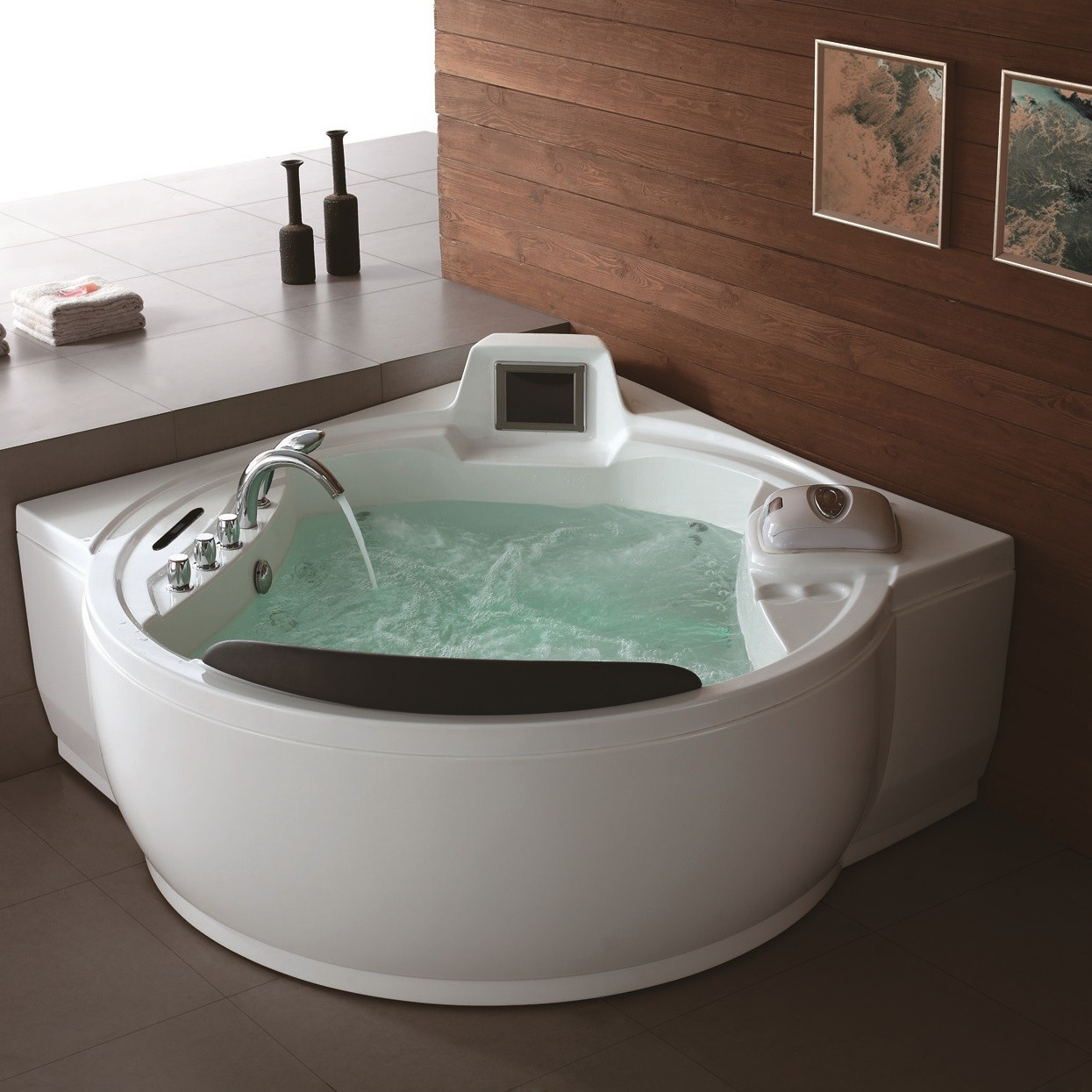 Whirlpool Bathtubs | Luxury Bathroom Corner Whirlpool Bath Tubs - USA