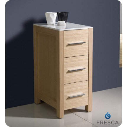 Fresca Torino Light Oak Bathroom Linen Side Cabinet