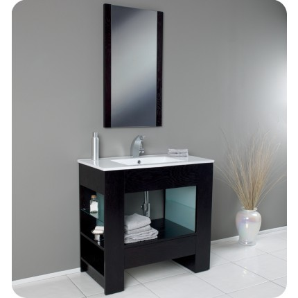 Fresca Egoista Modern Bathroom Vanity w/ Wenge Wood Finish