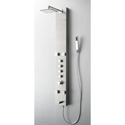 Fresca Pavia Stainless Steel (Brushed Silver) Thermostatic Shower Massage Panel