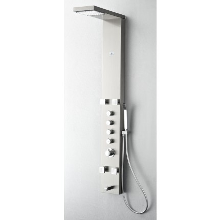 Fresca Verona Stainless Steel (Brushed Silver) Thermostatic Shower Massage Panel