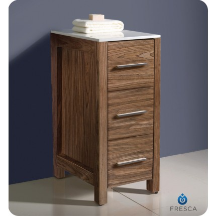 Fresca Torino Walnut Bathroom Linen Side Cabinet