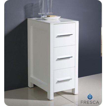 Fresca Torino White Bathroom Linen Side Cabinet