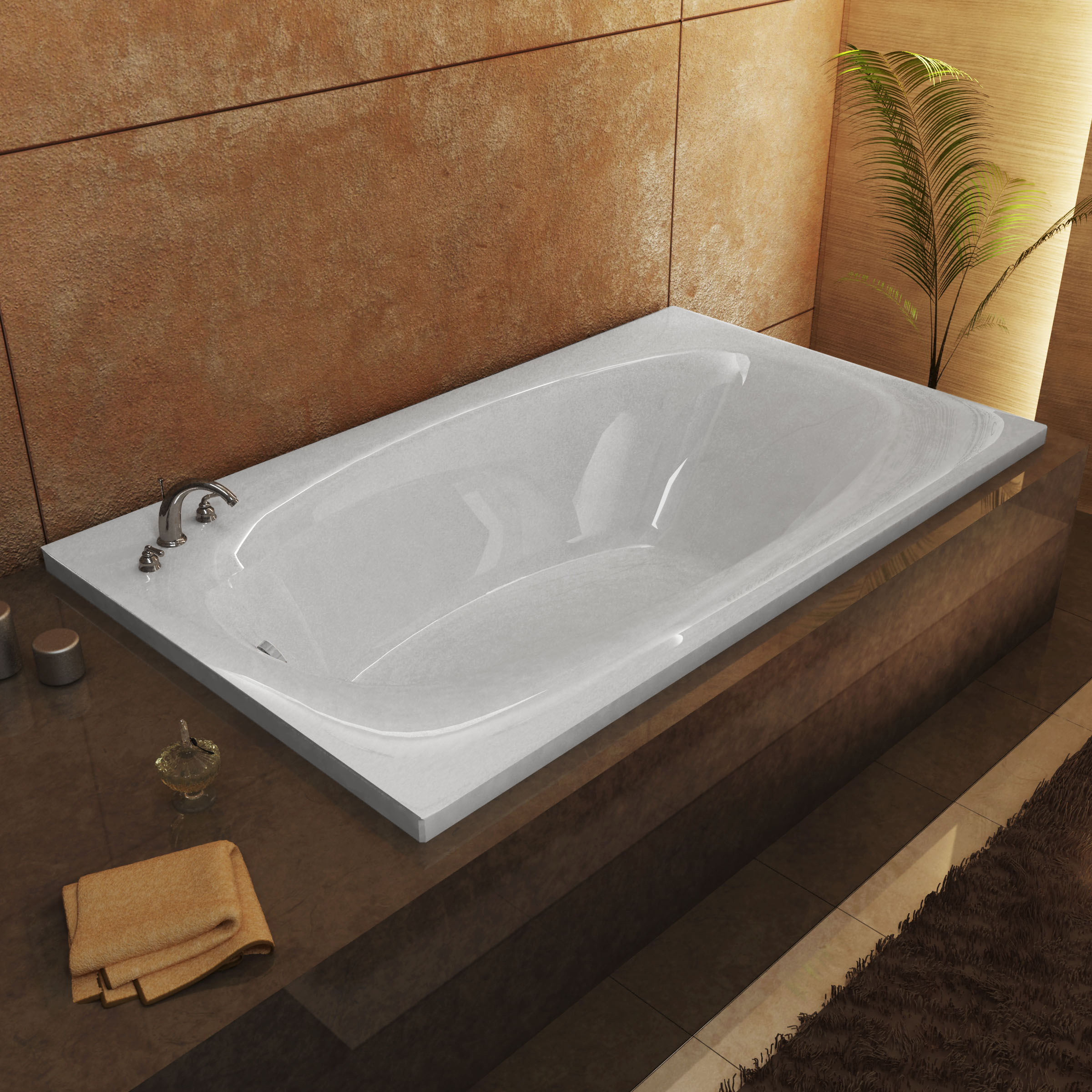 Talia 66 x 36 Rectangular Bathtub with Reversible Drain